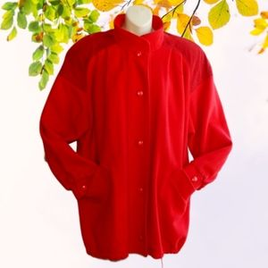 Vtg WESTBOUND Red Wool/Suede Leather Car Coat